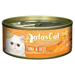 Aatas Cat Tantalizing Tuna & Beef in Aspic Canned Cat Food, 80g.Happy Hoomans