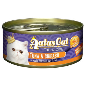 Aatas Cat Tantalizing Tuna & Shirasu in Aspic Canned Cat Food, 80g.Happy Hoomans
