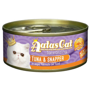 Aatas Cat Tantalizing Tuna & Snapper in Aspic Canned Cat Food, 80g.Happy Hoomans