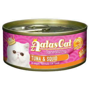Aatas Cat Tantalizing Tuna & Squid in Aspic Canned Cat Food, 80g.Happy Hoomans