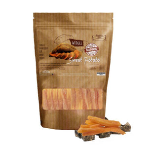 Absolute Bites Air-Dried Sweet Potato Wedges Pet Treats (2 Sizes).Happy Hoomans