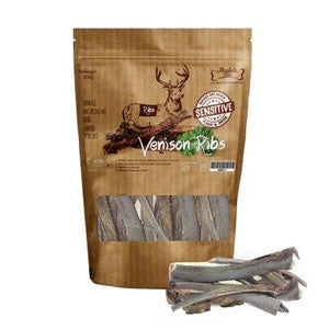 Absolute Bites Air-Dried Venison Ribs Dog Treats, 200g.Happy Hoomans
