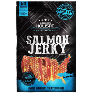 Absolute Holistic Oven Baked Grain-Free Salmon Steak Jerky Dog Treats, 100g.Happy Hoomans