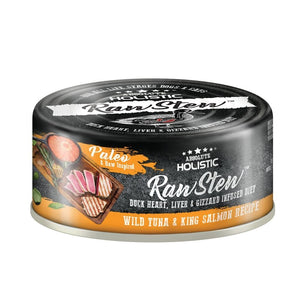Absolute Holistic Raw Stew Wild Tuna & King Salmon Recipe Wet Pet Food, 80g.Happy Hoomans