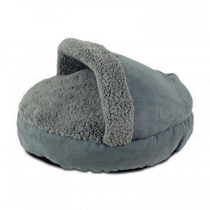 All For Paws Cozy Snuggle Cat Bed - Grey.Happy Hoomans
