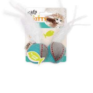 All For Paws Kitty Feather Ball Cat Toy.Happy Hoomans