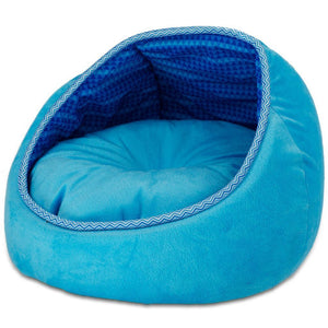 All For Paws Monaco Lounge Bed - Blue.Happy Hoomans