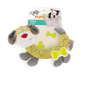 All For Paws Pups Bended Crinkle Dog Toy.Happy Hoomans