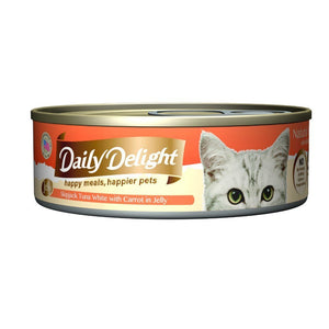 Daily Delight Skipjack Tuna White with Carrot in Jelly Canned Cat Food, 80g.Happy Hoomans