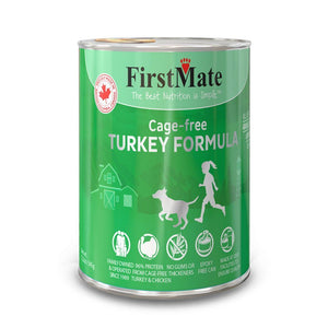 FirstMate Grain-Free Cage-Free Turkey Formula Wet Dog Food, 345g - Happy Hoomans