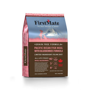FirstMate Grain-Free Pacific Ocean Fish with Blueberries Dry Cat Food (2 Sizes) - Happy Hoomans