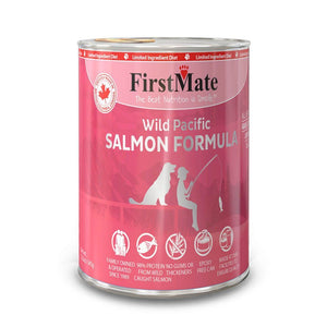 FirstMate Grain-Free Wild Pacific Salmon Formula Wet Dog Food, 345g - Happy Hoomans