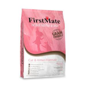 FirstMate Grain-Friendly Cat & Kitten Formula Dry Cat Food (2 Sizes) - Happy Hoomans