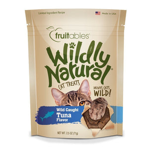 Fruitables Wildly Natural Tuna Flavour Cat Treats, 2.5oz - Happy Hoomans