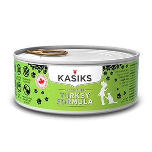 Kasiks Grain-Free Cage-Free Turkey Formula Wet Cat Food, 156g - Happy Hoomans