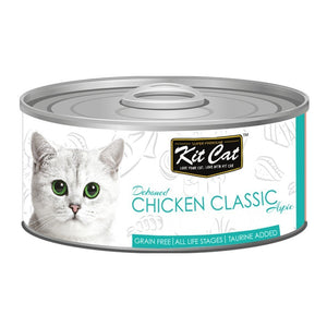 Kit Cat Deboned Chicken Classic Aspic Canned Cat Food, 80g - Happy Hoomans