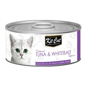 Kit Cat Deboned Tuna & Whitebait Toppers Canned Cat Food, 80g - Happy Hoomans