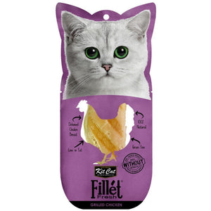 Kit Cat Fillet Fresh Grilled Chicken Cat Treats, 30g - Happy Hoomans