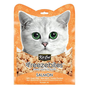 Kit Cat Freezebites Salmon Freeze-Dried Cat Treats, 15g - Happy Hoomans