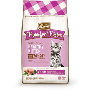 Merrick Purrfect Bistro Grain-Free Healthy Kitten Recipe Dry Cat Food, 1.8kg - Happy Hoomans