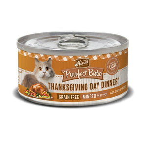 Merrick Purrfect Bistro Grain-Free Minced Thanksgiving Day Dinner Canned Cat Food, 85g - Happy Hoomans