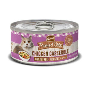 Merrick Purrfect Bistro Grain-Free Morsels Chicken Casserole Canned Cat Food, 85g - Happy Hoomans