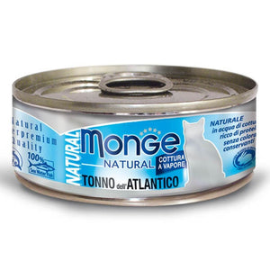 Monge Natural Atlantic Tuna Gluten-Free Canned Cat Food, 80g - Happy Hoomans