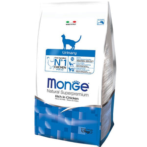 Monge Natural Superpremium Urinary Formula Dry Cat Food, 1.5kg - Happy Hoomans
