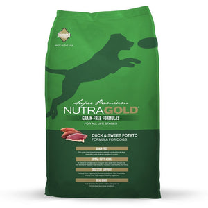 NutraGold Grain-Free Duck & Sweet Potato Dry Dog Food (2 Sizes) - Happy Hoomans