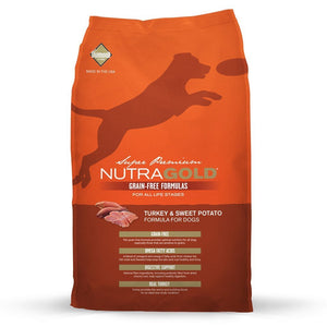 NutraGold Grain-Free Turkey & Sweet Potato Dry Dog Food (2 Sizes) - Happy Hoomans