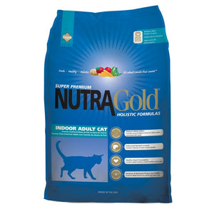 NutraGold Holistic Indoor Adult Cat Dry Food (2 Sizes) - Happy Hoomans