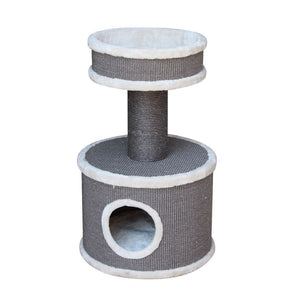 Pet Rebels Champions Only Tower 80 Cat Tree - Cream - Happy Hoomans