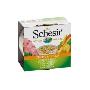 Schesir Chicken Soup Canned Dog Food, 156g - Happy Hoomans
