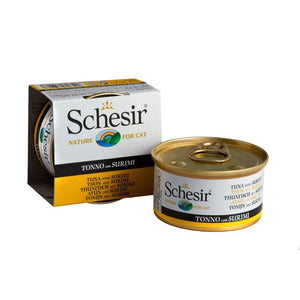 Schesir Tuna with Surimi in Jelly Canned Cat Food, 85g - Happy Hoomans