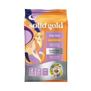 Solid Gold Indigo Moon Alaskan Pollock & Egg Grain-Free Dry Cat Food (2 Sizes) - Happy Hoomans