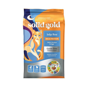 Solid Gold Indigo Moon Chicken & Egg Grain-Free Dry Cat Food (3 Sizes) - Happy Hoomans