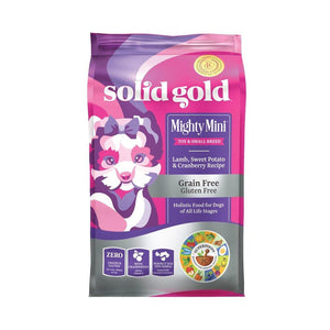 Solid Gold Mighty Mini Lamb, Sweet Potato & Cranberry Recipe Grain-Free Dry Dog Food,1.8kg - Happy Hoomans