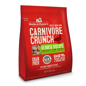 Stella & Chewy's Carnivore Crunch Duck Recipe Freeze-Dried Raw Dog Treats, 3.25oz - Happy Hoomans
