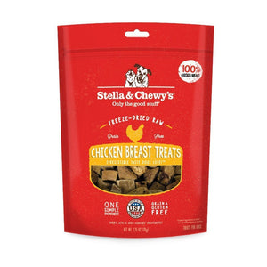 Stella & Chewy's Single Ingredient Chicken Breast Freeze-Dried Raw Dog Treats, 2.75oz - Happy Hoomans