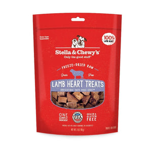 Stella & Chewy's Single Ingredient Lamb Heart Freeze-Dried Raw Dog Treats, 2.75oz - Happy Hoomans