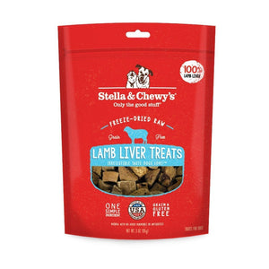 Stella & Chewy's Single Ingredient Lamb Liver Freeze-Dried Raw Dog Treats, 2.75oz - Happy Hoomans