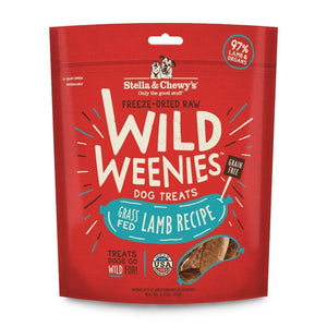 Stella & Chewy's Wild Weenies Lamb Recipe Freeze-Dried Raw Dog Treats, 3.25oz - Happy Hoomans