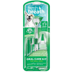 Tropiclean Fresh Breath Oral Care Kit for Dogs (2 Brush Sizes) - Happy Hoomans