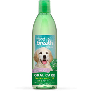 Tropiclean Fresh Breath Oral Care Water Additive for Puppies, 16 oz - Happy Hoomans