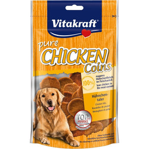 Vitakraft Chicken Coin Dog Treats, 80g - Happy Hoomans