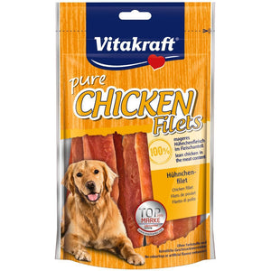 Vitakraft Chicken Filets Dog Treats, 80g - Happy Hoomans