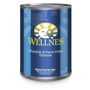 Wellness Complete Health Pate Whitefish & Sweet Potato Formula Wet Dog Food Topper, 354g - Happy Hoomans