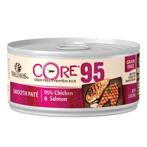 Wellness CORE 95 Chicken & Salmon Grain-Free Canned Cat Food, 5.5oz - Happy Hoomans