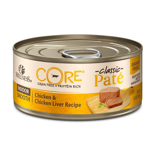 Wellness CORE Classic Pate Indoor Chicken & Chicken Liver Canned Cat Food, 5.5oz - Happy Hoomans