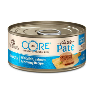 Wellness CORE Classic Pate Whitefish, Salmon & Herring Canned Cat Food, 5.5oz - Happy Hoomans
